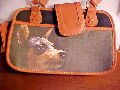 Ardleigh Elliott Faithful Friends Miniature Pinscher Min Pin Dog Purse 2008 NEW