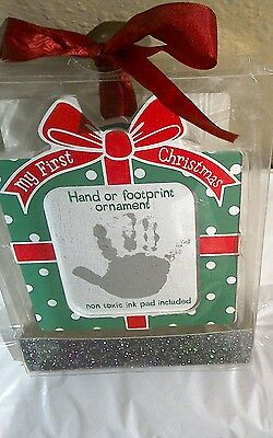 Baby Essentials My First Christmas Hand or Footprint Ornament