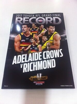2017 AFL GRAND FINAL RECORD ADELAIDE CROWS v RICHMOND TIGERS - New