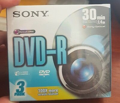 Sony 8cm DVD-R 30 Min - 3Pack  - 100x More Scratch Resistant - FAST POST (B3)