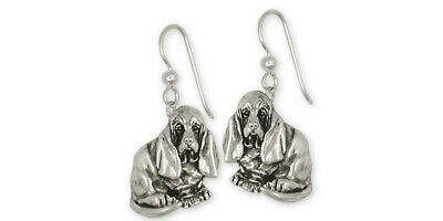 Basset Hound Earrings Jewelry Sterling Silver Handmade Dog Earrings BAS5-E