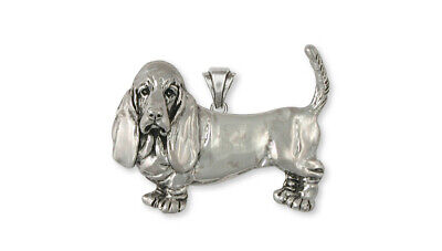 Basset Hound Pendant Jewelry Sterling Silver Handmade Dog Pendant BAS1-P