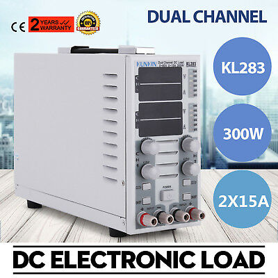 KL283 300W LCD Dual Channel DC Electronic Load Instrument 2CH Adjustable 30A 80V
