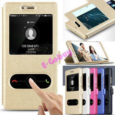 Magnetic Slim Flip PU Leather Stand View Window Case Cover for Huawei Models