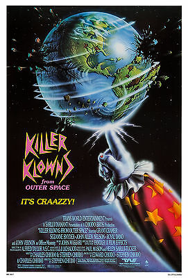 Killer Klowns From Outer Space 1988 Original Movie Poster