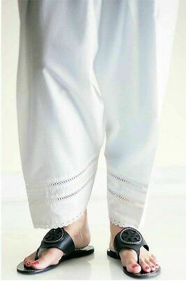 Pakistani/Indian Shalwar Pants Trousers Cotton White Black Eid Custom Stitched