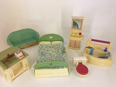 Fisher Price - Loving Family - 90s Furniture Lot - Accessories / Furniture