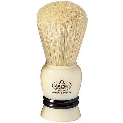 OMEGA BOAR SHAVING Brush Professional 10108 BLUE - $12 95