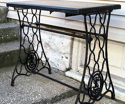 Antique Commercial Singer Cast Iron Sewing Machine Stand Base Table  Seamstress