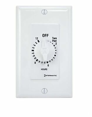 Intermatic SW12HWK 12-Hour Spring Wound Timer, White