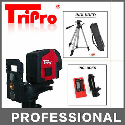 Auto Self Leveling Cross Line Laser Level + Receiver Detector + Outdoor Tripod
