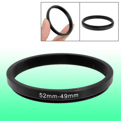 52mm-49mm 52mm to 49mm Black Step Down Ring Adapter for Camera