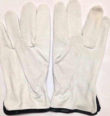 12Pair Pack,Goat Skin Grain Leather Drivers,worksafety gloves(PPE),Size S to XXL