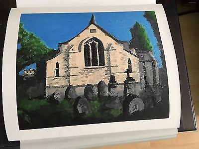 Original Painting Collage Of St Peters Church, Southborough,  England.