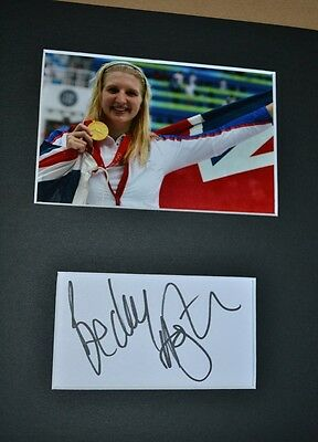 "Rebecca Adlington Autograph Signed Card **6"" X 4"" ** Photo (Olympic Swimmer)  55"