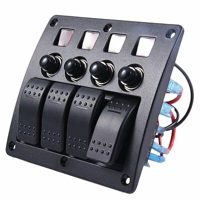 DC12V / 24V Automotive 3PIN With Light 4-Band Lens Combination Panel Switch TW