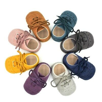 Infant Baby Soft Sole Suede PU Leather Shoes Boys Girls Toddler Moccasin 0-18M