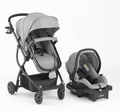Urbini Omni Plus Special Edition Travel System Infant Baby Car Seat Stroller New