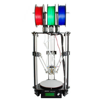 GEEETECH 3D printer Delta Rostock Kossel 3-in-1-out Hotend