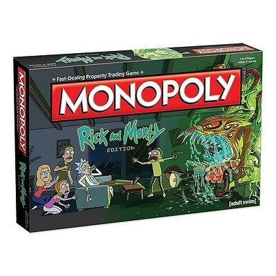 Rick & And Morty Monopoly Board Game Brand New // Pre-Order
