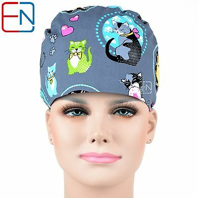 ad62743ad UNISEX SURGICAL CAPS for doctors&nurses 100% cotton-pixie-scrub/ medical  cap/hat