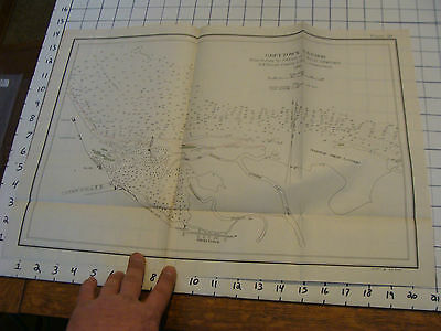 Early 1900's Original chart ISTHMIAN CANAL: greytown harbor data from 1898 #59