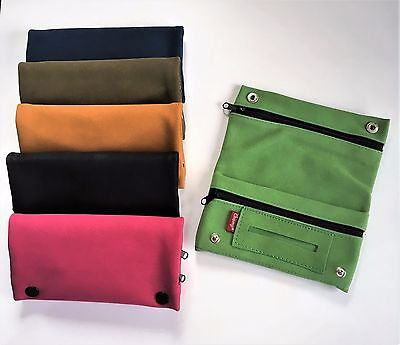 TOBACCO POUCH ZIPPER SUEDE LARGE with SLOT FOR ROLLING PAPER and Zipper SECTION