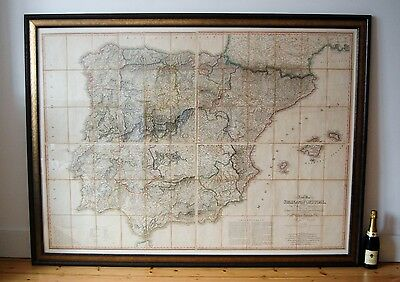 Napoleonic Period Military Map Of Spain & Portugal By William Faden London