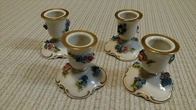 Antique/Vintage Van Schierholz Germany 1900-1909 Porcelain candle holders