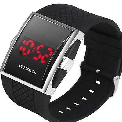Luxury Men Fashion LED Digital Date Sport Quartz  Wrist Watch Black YAy