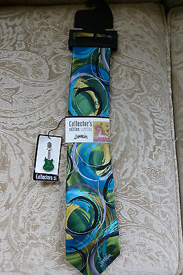 J. Garcia Collector's Edition Limited Design Ties 100% Silk NEW Red Blue Green