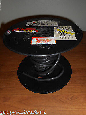 30 Feet Woods / Coleman Cable 18/2 Black SJEW-A Wire # 0485 (End of Spool)