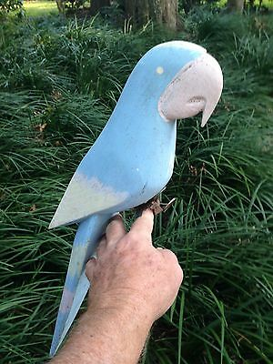 Blue Bird of Parrot  Happiness, 1-Piece Wood, Party Parrot, Home, Patio, Kitchen