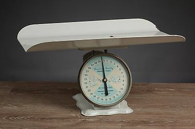 Vintage American Family White Metal Nursery Scale Baby Decor Photography Prop