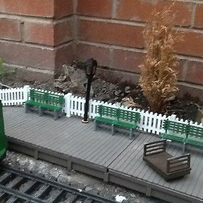 Five Platform Benches for Garden Railway 16mm Scale SM32 G45 Narrow Gauge Kit
