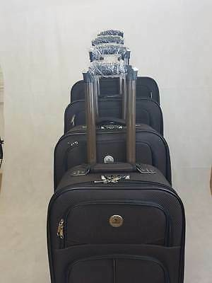 Set of 4 piece travel luggage wheel trolleys suitcase bag 4 wheels Extra Light