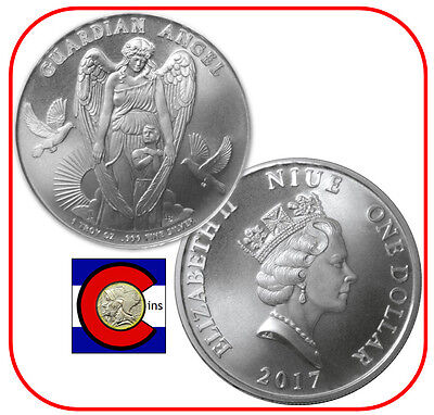 2017 Niue Guardian Angel 1 oz Silver $1 Coin -- in airtite capsule