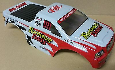 1/10 RC Monster Truck Off Road Body Shell Red & White