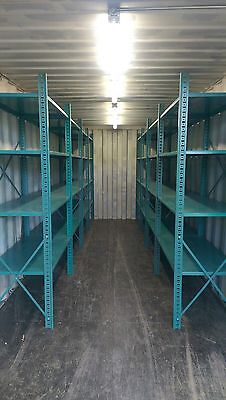 Used 20' Ft shipping and storage container loaded with shelving!