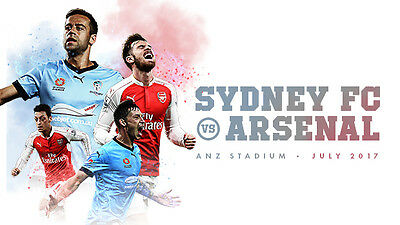 2x Arsenal vs Sydney FC Tickets, Great Seats Row 24