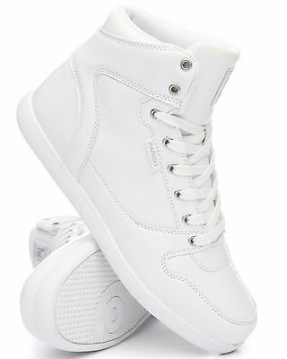 New 2017 Parish Nation All White Patent Leather High Top Lace Up Sneakers Pm500