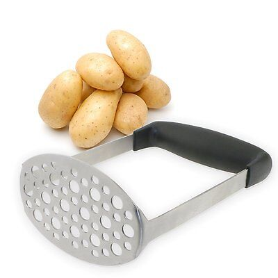 New Stainless Steel Smooth Potato Masher for Smooth Mashed Potatoes Vegetables