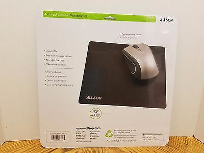 Lot of 18 Allsop 30200 Accutrack Slimline Mouse Pads XL Graphite (3) 6 packs