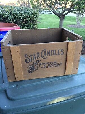 Vintage Proctor & Gamble Star Candles Wood Box Crate