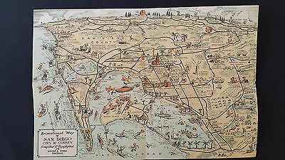 Recreational Map of San Diego City and County 1935 (RARE)