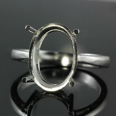 10x14 Oval shape ring setting sterling silver 925 #0378