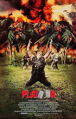 Platoon (1986) Original International Movie Poster  -  Rolled