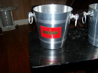 Vintage French PIPER-HEIDSIECK Large CHAMPAGNE Aluminum Silver Ice Bucket RARE!