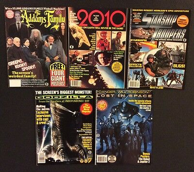 GODZILLA Lost in Space 2010 STARSHIP TROOPERS Addams Family 5 Sci-Fi Magazines