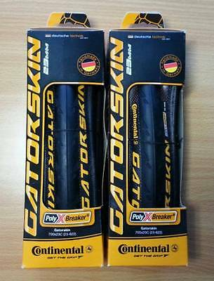 2 x Continental Gatorskin Black Folding Tyres - FREE POST + FREE TUBE!!